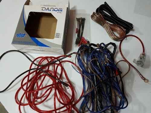 Kit De Cables 8 Para Sonido De Carro - Usado Muy Pocos Dias