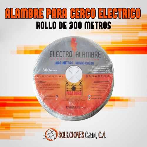 Alambre Cerco Eléctrico Rollo De 300 Metros