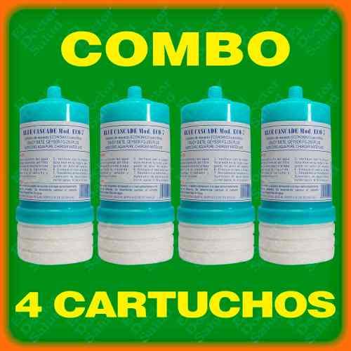 Cartuchos Carbón Combo 4 Eco7 - Filtros Agua - Plantas