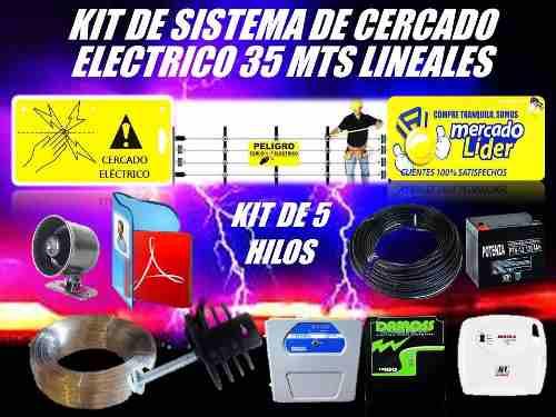 Cerco Electrico Kit 35 Mts Energizador Y Mas Listo Instalar