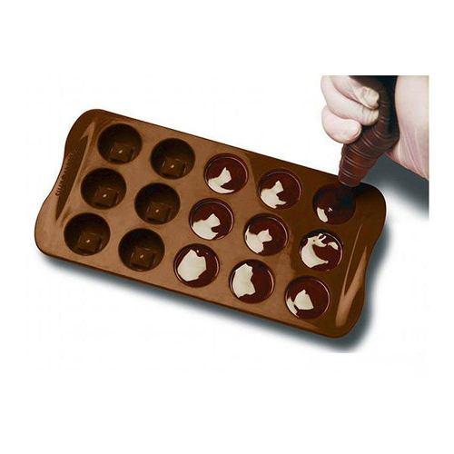 Juego De 3 Moldes De Silicon Para Hacer Bombones De Chocolat