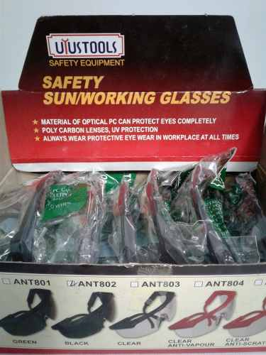 Lentes De Seguridad Oscuros Y Transparentes Uyustools