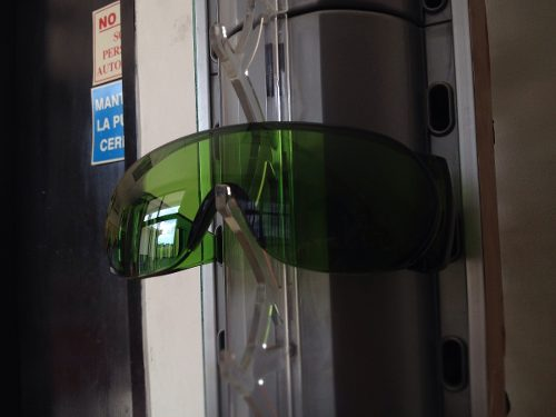 Lentes De Seguridad Verde Con Ventilacion
