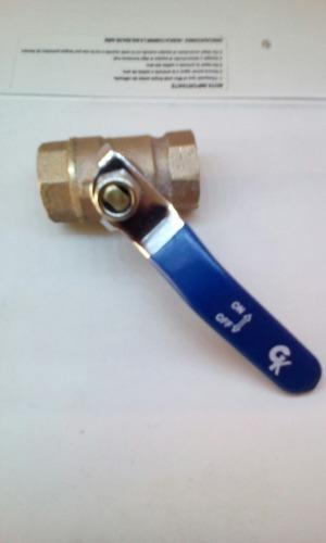 Llave De Paso Valvula 1/2 De 400psi Gas Y Agua En Bronce