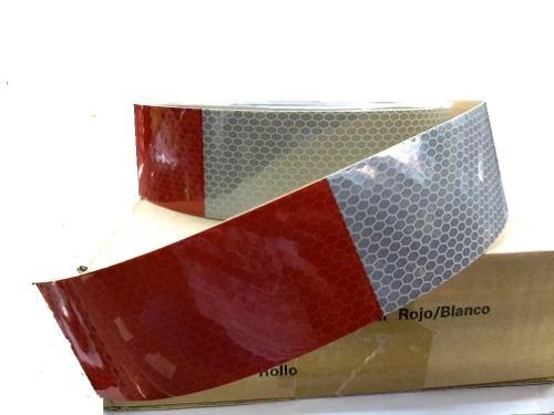 Metro De Cinta Reflectiva Bicolor Rojo-blanco