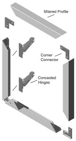 Perfil De Aluminio Practical Para Puertas De Aluminio 2.50 M