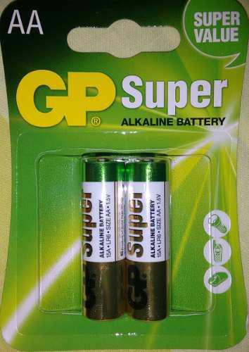 Pila Aa Alcalina Gp Blister 2unid Super Alcalina 1800 Mah