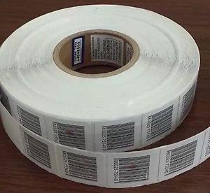 Rollo De Adhesivas De Seguridad 8,2mhz  Etiquetas