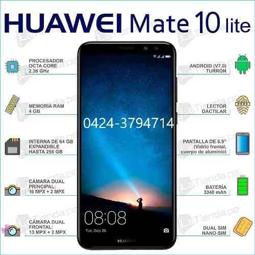 Telefono Huawei Mate 10 Lite 64 Gb De Rom 4g De Ram 285trump