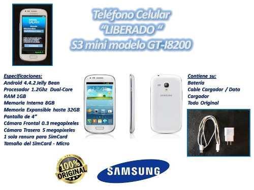 Teléfono Celular S3 Mini Gt-i Samsung Liberado