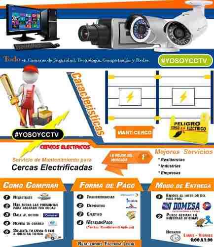Venta, Instalacion Y Mantenimiento De Cerco Electrico