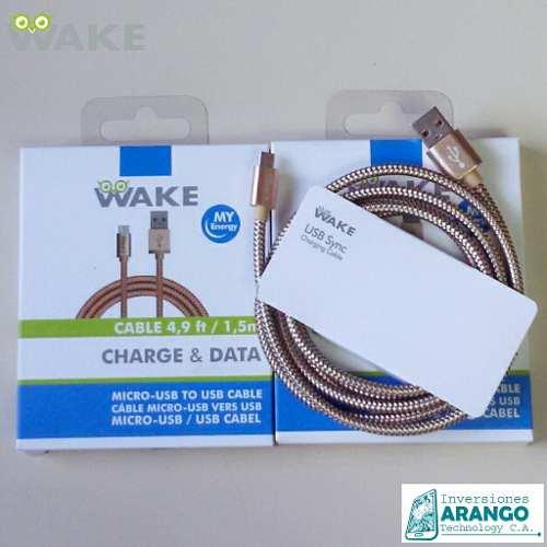 Cable Wake Micro Metalico Original 1.5 Somos Tienda Fisica