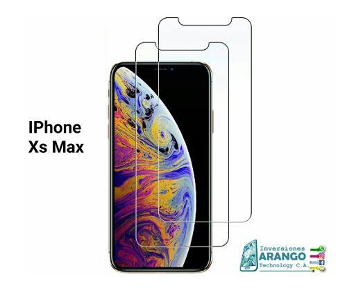 Protector Vidrio Templado 33mm Iphone Xs Max Tienda Chacao