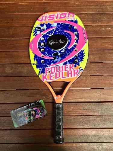 Raqueta De Beach Tennis Vision Power Kevlar Jr.