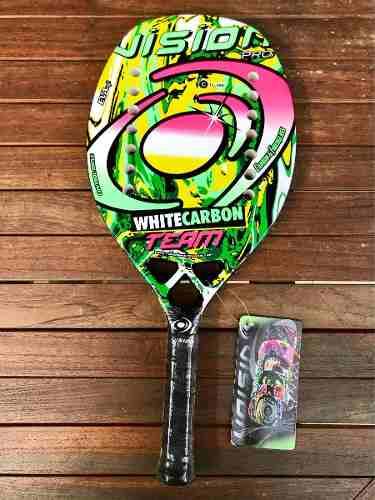 Raqueta De Beach Tennis Vision White Carbon Team