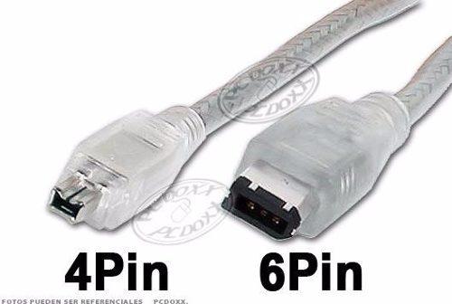Cable Firewire De 4 A 6 Pines Para Pc Camaras Solo Ptoordaz
