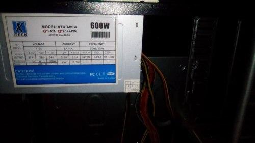 Case Pc Con Fuente De Poder 600w Atx