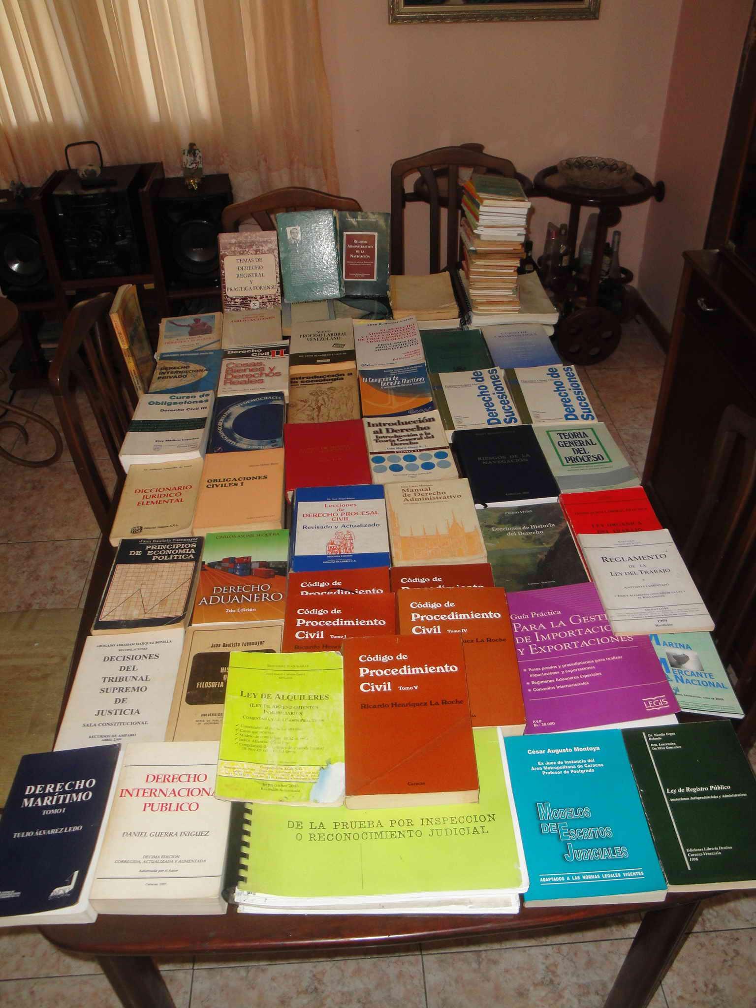 Colección de Libros de Derecho (negociable)