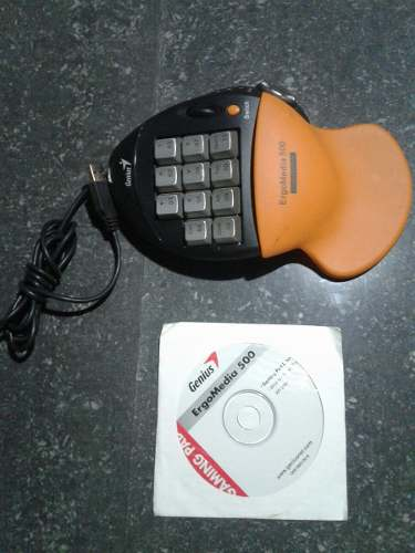 Keypad One Hand, Teclado Gamer Pc Genius Ergomedia 500.