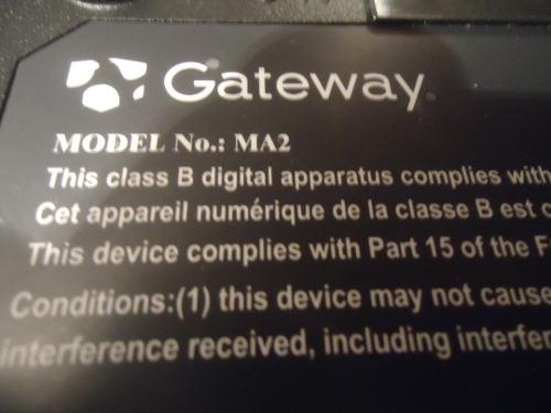 Laptop Gateway Modelo Ma2
