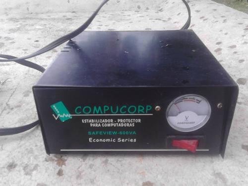 Regulador De Voltaje 110v Para Pc 4 Tomas Marca Compucorp