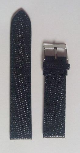 Correa Negra Cuero 20mm Reloj De Caballero Made In India