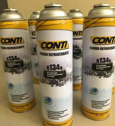 Gas Refrigerante Marca Conti R134a De 750gr Desechable