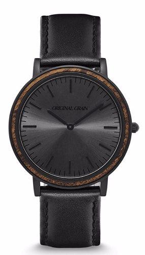 Reloj Caballero Original Grain Black Ébano Negro Sunburst