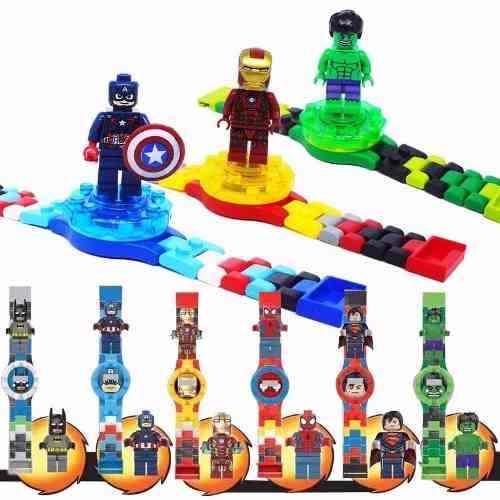 Reloj De Lego Hulk Spiderman Capitan