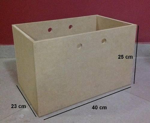 Caja Organizador Pañalera Juguetes Ropa En Mdf Crudo