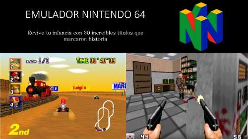 Juegos De Nintendo 64 Pc Windows Laptops Emulador + Roms