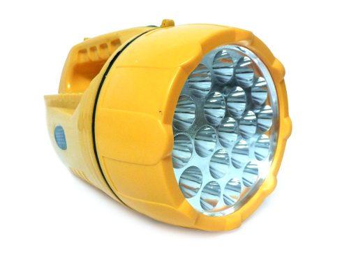 Linterna Lampara 19 Led Bateria Recargable Con Luz Blanca