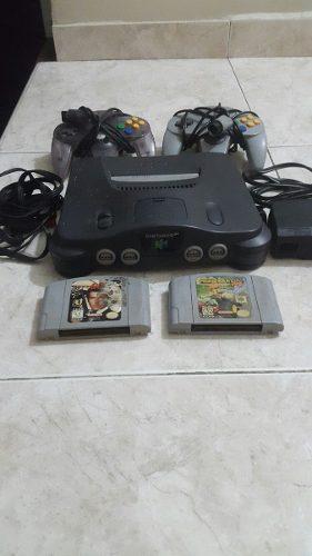 Nintendo 64 2 Controlea Y Juegos Oferta