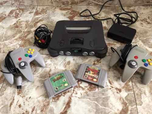 Nintendo 64 Original Usado 2 Juegos 2 Controles