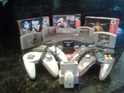 Oferton Ya... Nintendo 64 8 Juegos 2 Controles Y 1 Accesorio
