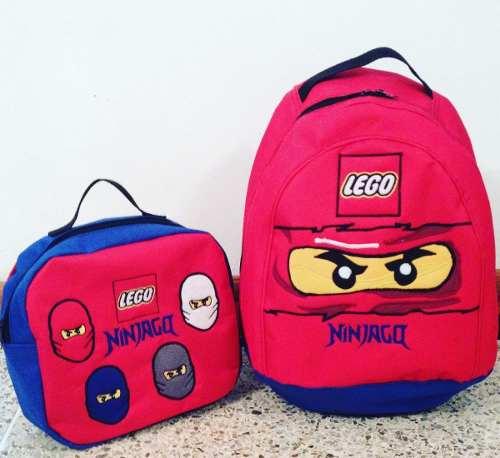 Bolso Morral Escolar Lonchera Lego Ninjago