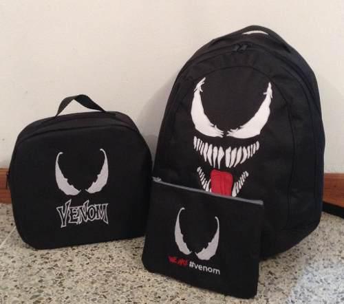 Bolso Morral Escolar Lunchera Y Cartuchera De Venom