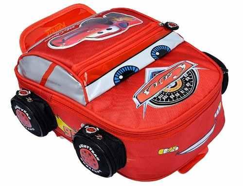 Bolso Morral Escuela Niños Rayo Mc Queen Cars Grande