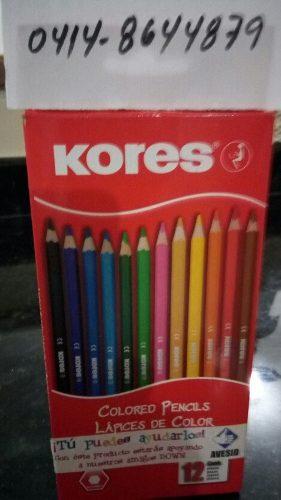 Caja De Colores Kores De 12 Colores