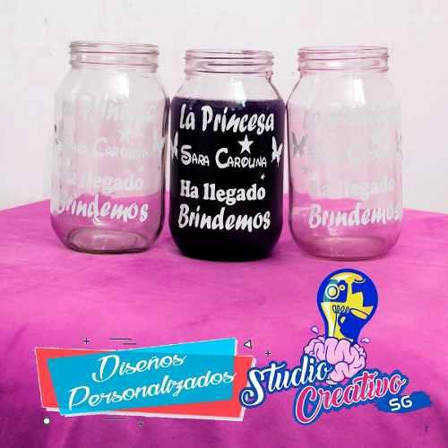 Calcomanías En Vinil Diseños Creativos Para Frascos,vasos