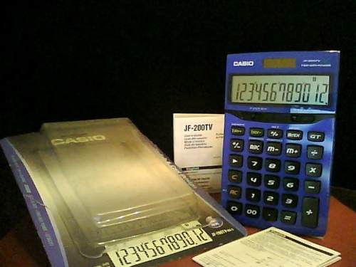 Calculadora Casio Jf-200tv 12 Digitos De Mesa