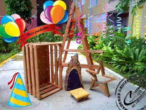 Escalera Decorativa, Escalera De Madera, Base Torta Cupcake