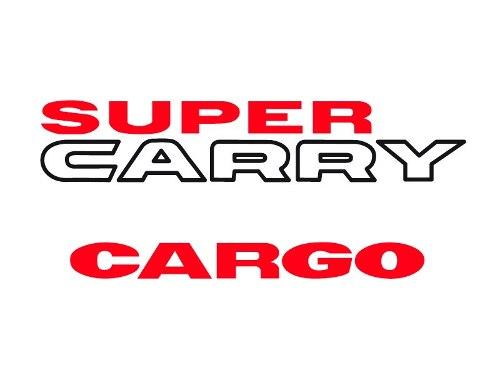 Kit Completo Calcomanias Super Carry Cargo Diseño Original
