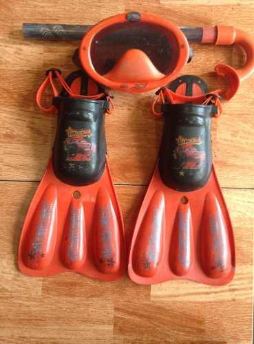 Kit De Buceo Snorkel Para Niños De Cars Usado