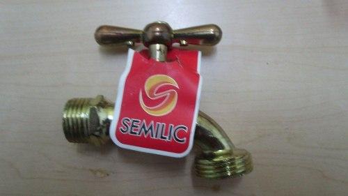 Llave De Chorro 1/2 Marca Semilic Bronce