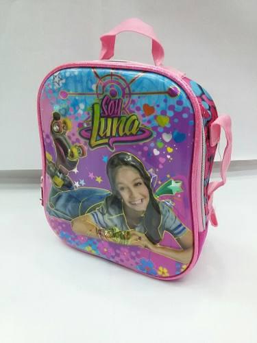 Maleta Bolso Morral Soy Luna 3 En 1 Con Luces En Las Ruedas