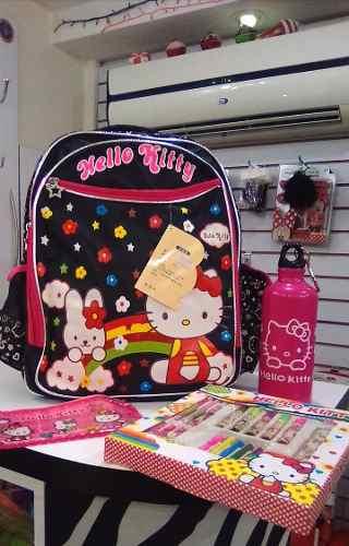 Morral Escolar Hello Kitty Importado Grande + Obsequio