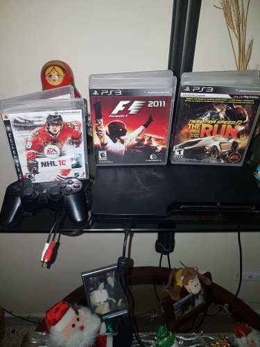 Playstation 3 Ps3 Con Tres Juegos Y Un Control