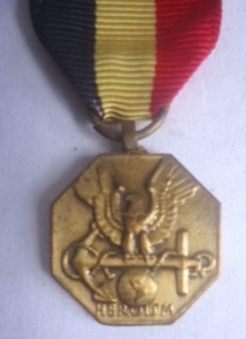 Antigua Medalla De La Armada Y Del Cuerpo Marine Usa!oferta!