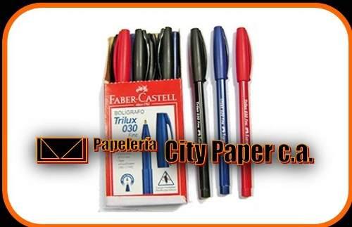 Boligrafos Faber Castell Azul 0.30